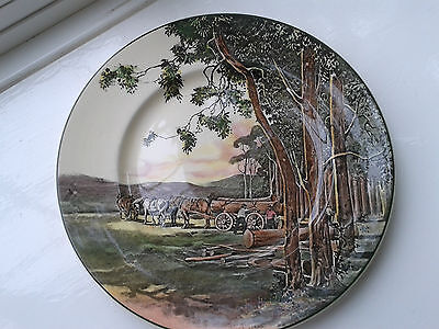 Royal Doulton D6307 Horses/Logging/country Scene Collectable Plate