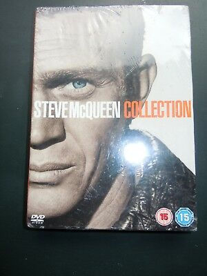 Steve Mcqueen 4 Dvd Collection New Great Escape Magnificent 7 Etc