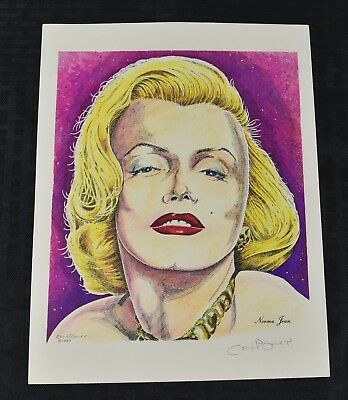 1990 Hand Signed CECIL HIGHLEY Norma Jean Marilyn Monroe Color Lithograph Print