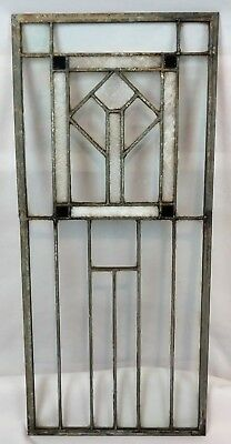 Antique c1905 Stained Leaded and Slag Glass Arts & Crafts Window