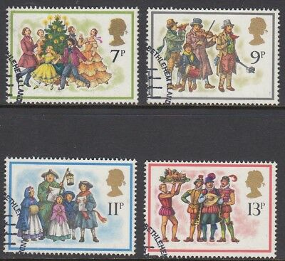 GB Stamps 1978, Christmas, Carol Singers, VFU set of 4 from FDC
