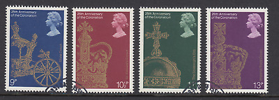 GB Stamps 1978, 25th Anniv of Coronation, set of 4 VFUsed from FDC. SG 1059-1062
