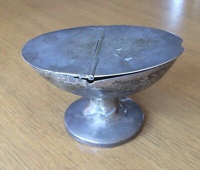 Antique Irish Chapel Incense Boat Silver Plated 19th Century