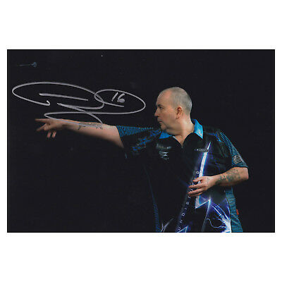 Phil Taylor Signed The Power Photo Darts Autograph Memorabilia