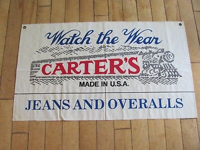 Carter Jeans and Overalls Advertising Banner.