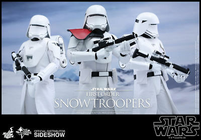 STAR WARS SIDESHOW HOT TOYS 1/6 Scale FIRST ORDER SNOWTROOPERS SET MMS323 NEW!