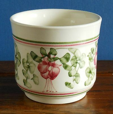 """A hand painted fuchsia pattern 3 """" planter by Cinque Ports pottery"""