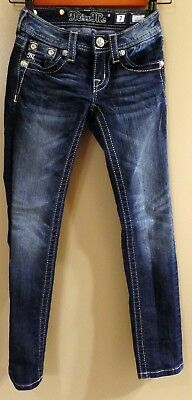 Miss Me Skinny Jeans * Girls Size 7 * Jk592852 Crystal Bling Rhinestone Pockets