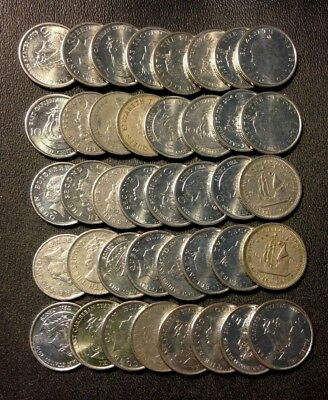 Old Eastern Caribbean States Coin Lot - 40 EXCELLENT Uncommon Coins -Lot #617