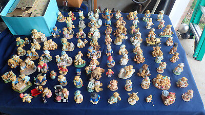 Cherished Teddies 89 Piece Lot 71 With Boxes Hillman Enesco  Bears
