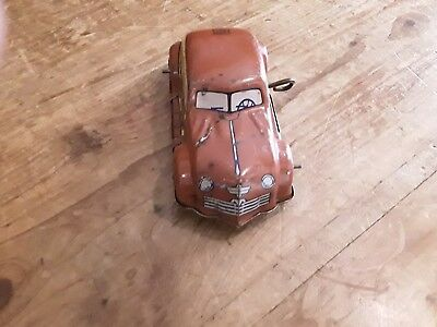 vintage antique toy tin cars windup does not work