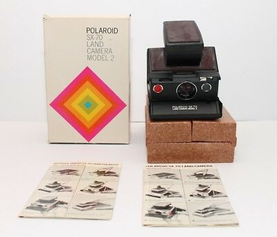 Polaroid SX-70 Land Camera Model 2 Brown Untested with Box Vintage
