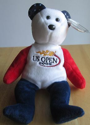 TENNIS! SMASH the US OPEN BEAR 2005 Ty Beanie Baby, Great condition