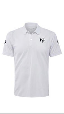 Boys Sergio Tacchini Tennis Master Polo Shirt, White - Size 2XL