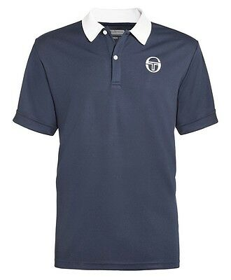 Boys Sergio Tacchini Tennis Polo Shirt, Blue - Size Large