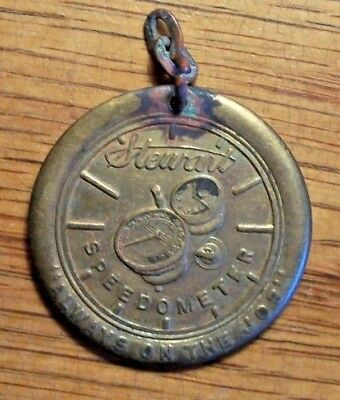 Antique Stewart Speedometer Co. Automobile Advertising Hard Times Key Watch Fob