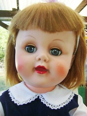 """Vintage 1950's-1960's AE 24"""" Tooted Hair Drink/Wet Baby Doll"""