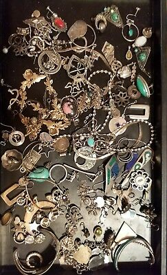 Lot of sterling silver scrap 925 jewelry 379.2 grams mixed lot all hallmarked