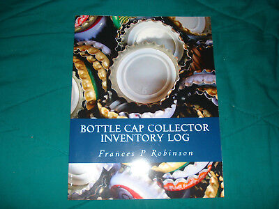 Bottle Cap Collector Inventory Log Book-Mint!!