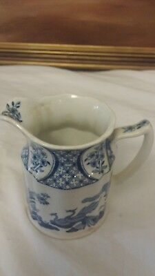Old Chelsea Furnivals Limited England Blue and White Creamer No. 647812