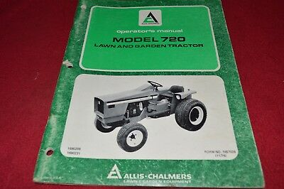 Allis Chalmers 720 Lawn & Garden Tractor Operator's Manual YABE16
