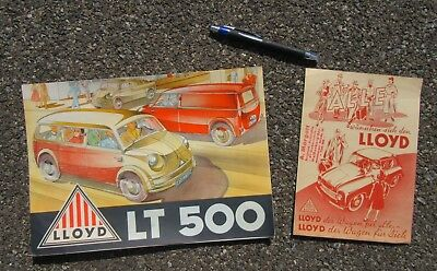 Lloyd Motoren Werke Brochure Lot Lt Delivery Vehicles; Lp Lk Lc Ls 300 In German