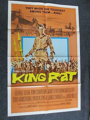 "King Rat 1965 George Segal WWII 27"" x 41"" 1 Sheet Movie Poster Pinholes"