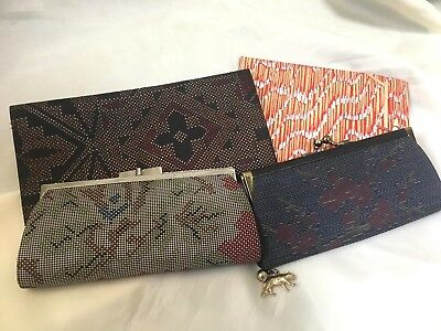 *Junk Drawer, Japanese Vintage, Small Pouch, Lot of 4 K061803