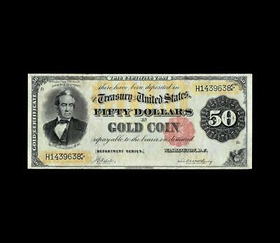 Ultra Rare 1882 $50 Gold Certificate Strong Very Fine Condition
