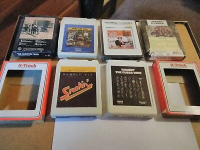 Lot of 6 vintage 8 track tapes all tested play the who,grateful dead, humble pie