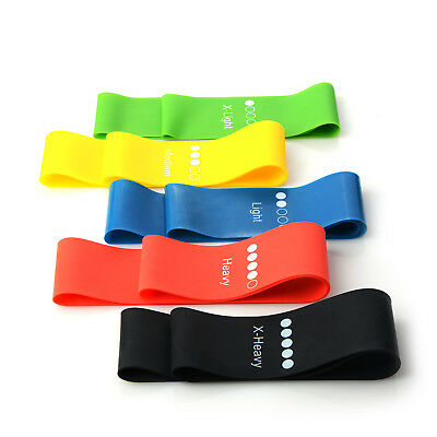 Elastic Resistance Exercise Loop Bands Yoga Gym Fitness Workout Stretch Physio