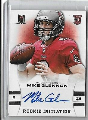 Mike Glennon Lot Of 2 Different Authentic Rookie Certified Autograph Cards