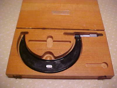 "Starrett 5""- 6"" Outside Micrometer with Carbide Tips  / No.436.1"