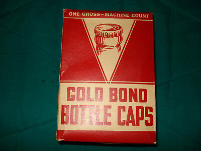Gold Bond Bottle Caps in Orig. Box Crown Caps Breweriana-Great Condition!!