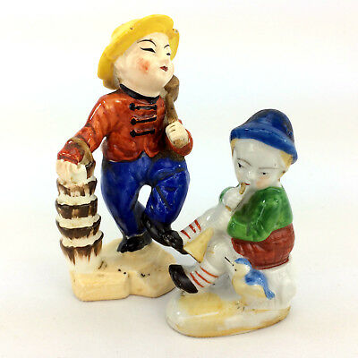 Lot 2 Asian Figurine People Made In Occupied Japan Hand Painted Porcelain