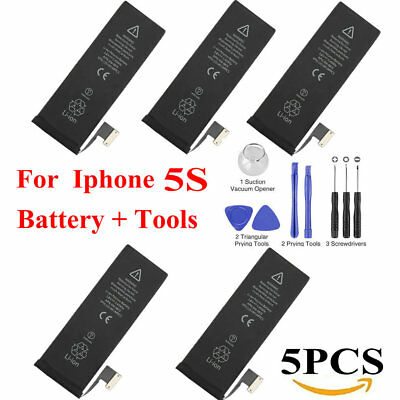 5X OEM Genuine Replacement Internal Battery For iPhone 5S 1560mah + Tool Kit