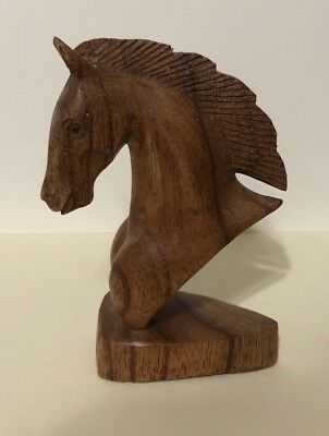Solid Wooden Horse Head No Brand *IN PERFECT CONDITION* No Tags/Artist Mark