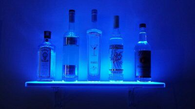 LED Liquor Shelf and Bottle Display (2 ft length) - Made in the USA! -