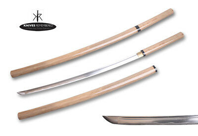 "40"" Handmade Natural Wood Shirasaya Japanese Samurai Spirit Katana Sword Xmas"