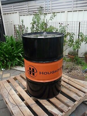 New HOUGHTON sealed 205 litres drum hydraulic oil.  Fire Resistant.