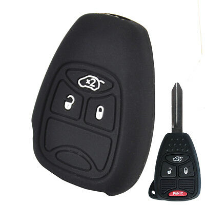 Silicone Car Key Cover Case For Jeep Chrysler Dodge Remote Fob Protector