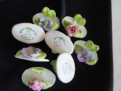 Heathcote Hall Place card Holders Flowers Fine Bone China