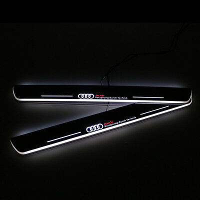 2Pzz Battitacco Sottoporta Audi A7/s7/rs7 2012  Led Door Sill Led Dynamic White