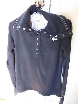 Long Sleeve Ladies Horse Riding Top - Size 10 - Brand Thomas Cook - Navy