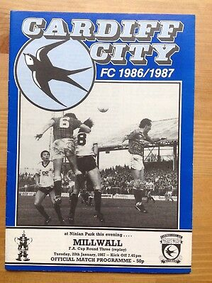 CARDIFF CITY v MILLWALL FA Cup Third Round REPLAY 1986/87