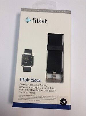 Fitbit Blaze Classic Accessory Band Size Lg Black , New Sealed Free Shipping