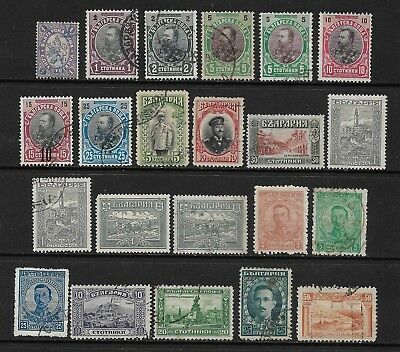 BULGARIA mixed collection No.21, early, 1882-1921, used & mint