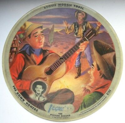 1450/ BILDPLATTE The young Bill HALEY & Down Homers-Vogue 786-picture disc-78rpm