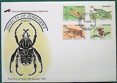 Zimbabwe 1988 Insects (Sg724-27) Fdc