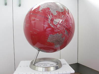 World Globe Spinning Atlas on Stand Excellent Condition High Quality